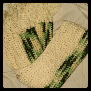 Handmade Warm Boho Scarf With Fringe